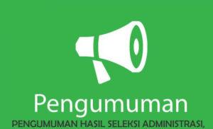 Pengumuman Hasil Seleksi Administrasi