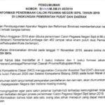 Info Resmi Pendaftaran CPNS Tahun 2019