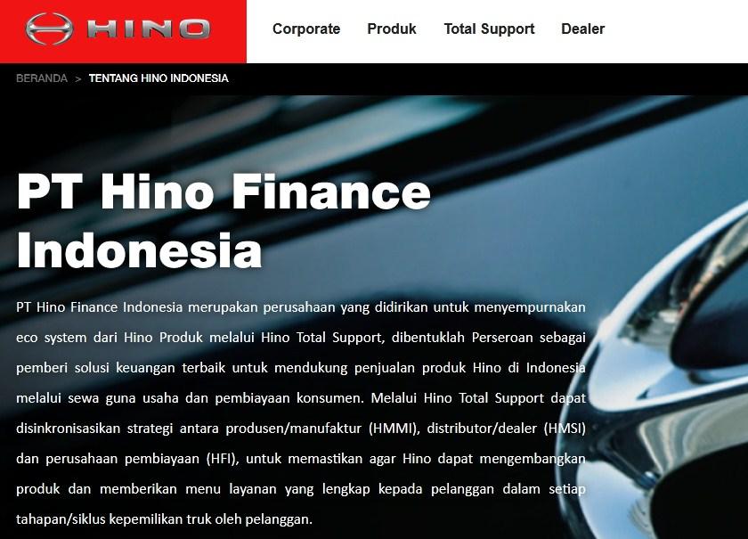 Rekrutmen PT Hino Finance Indonesia
